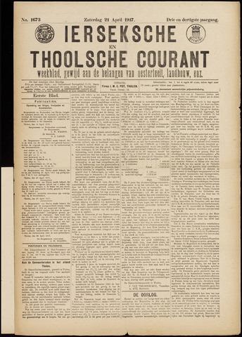 Ierseksche en Thoolsche Courant 1917-04-21