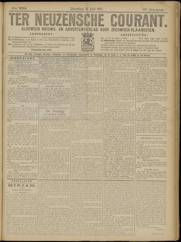 Ter Neuzensche Courant. Algemeen Nieuws- en Advertentieblad voor Zeeuwsch-Vlaanderen / Neuzensche Courant ... (idem) / (Algemeen) nieuws en advertentieblad voor Zeeuwsch-Vlaanderen 1917-07-31