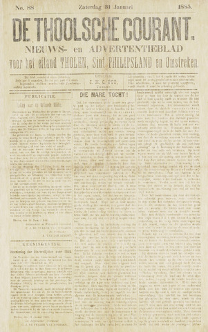 Ierseksche en Thoolsche Courant 1885-01-31