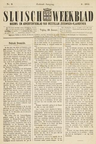 Sluisch Weekblad. Nieuws- en advertentieblad voor Westelijk Zeeuwsch-Vlaanderen 1875-01-29