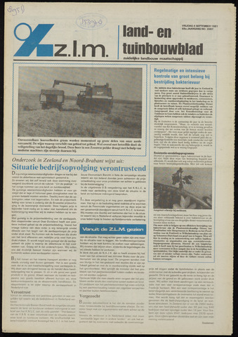 Zeeuwsch landbouwblad ... ZLM land- en tuinbouwblad 1981-09-04