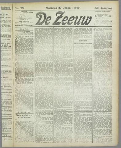 De Zeeuw. Christelijk-historisch nieuwsblad voor Zeeland 1919-01-27