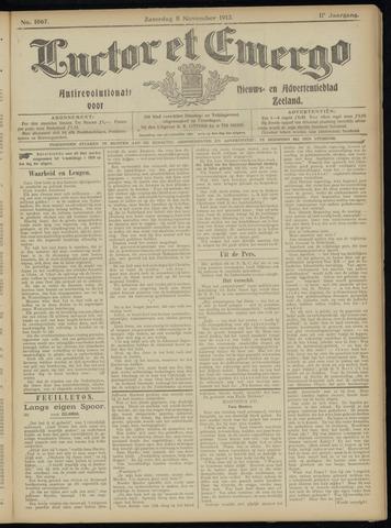Luctor et Emergo. Antirevolutionair nieuws- en advertentieblad voor Zeeland / Zeeuwsch-Vlaanderen. Orgaan ter verspreiding van de christelijke beginselen in Zeeuwsch-Vlaanderen 1913-11-08