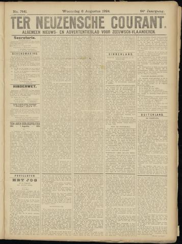 Ter Neuzensche Courant. Algemeen Nieuws- en Advertentieblad voor Zeeuwsch-Vlaanderen / Neuzensche Courant ... (idem) / (Algemeen) nieuws en advertentieblad voor Zeeuwsch-Vlaanderen 1924-08-06