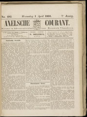 Axelsche Courant 1891-04-01