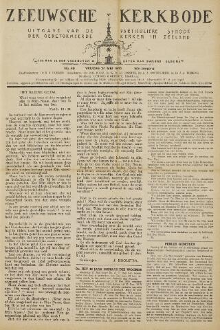 Zeeuwsche kerkbode, weekblad gewijd aan de belangen der gereformeerde kerken/ Zeeuwsch kerkblad 1946-05-24