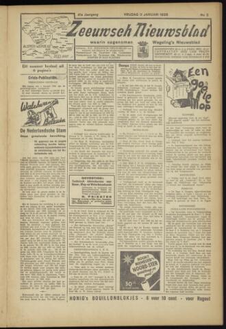 Zeeuwsch Nieuwsblad/Wegeling's Nieuwsblad 1935-01-11