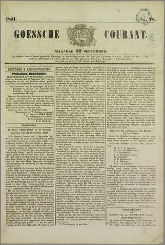 Goessche Courant 1851-09-20