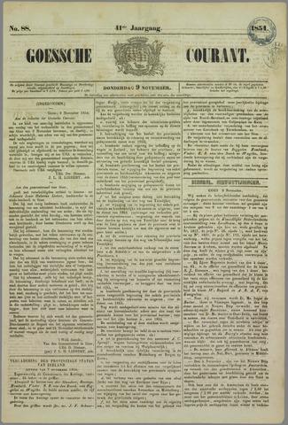 Goessche Courant 1854-11-09
