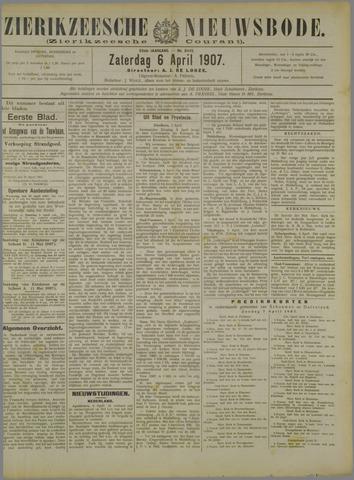 Zierikzeesche Nieuwsbode 1907-04-06