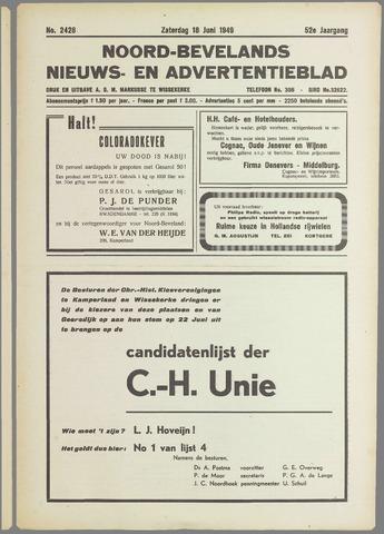 Noord-Bevelands Nieuws- en advertentieblad 1949-06-18
