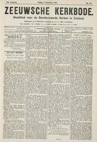 Zeeuwsche kerkbode, weekblad gewijd aan de belangen der gereformeerde kerken/ Zeeuwsch kerkblad 1925-12-11