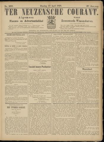 Ter Neuzensche Courant. Algemeen Nieuws- en Advertentieblad voor Zeeuwsch-Vlaanderen / Neuzensche Courant ... (idem) / (Algemeen) nieuws en advertentieblad voor Zeeuwsch-Vlaanderen 1898-04-19