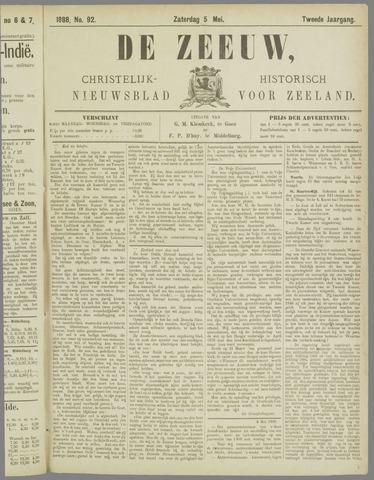 De Zeeuw. Christelijk-historisch nieuwsblad voor Zeeland 1888-05-05