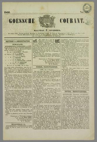 Goessche Courant 1851-11-03