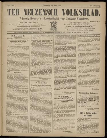 Ter Neuzensch Volksblad. Vrijzinnig nieuws- en advertentieblad voor Zeeuwsch- Vlaanderen / Zeeuwsch Nieuwsblad. Nieuws- en advertentieblad voor Zeeland 1917-07-25