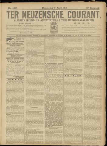Ter Neuzensche Courant. Algemeen Nieuws- en Advertentieblad voor Zeeuwsch-Vlaanderen / Neuzensche Courant ... (idem) / (Algemeen) nieuws en advertentieblad voor Zeeuwsch-Vlaanderen 1919-04-17