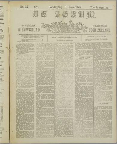 De Zeeuw. Christelijk-historisch nieuwsblad voor Zeeland 1911-11-09