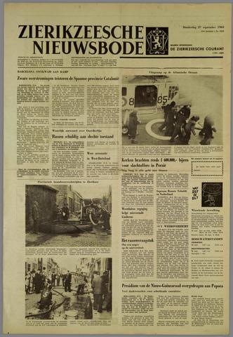 Zierikzeesche Nieuwsbode 1962-09-27