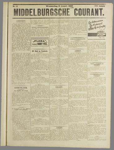 Middelburgsche Courant 1927-03-02