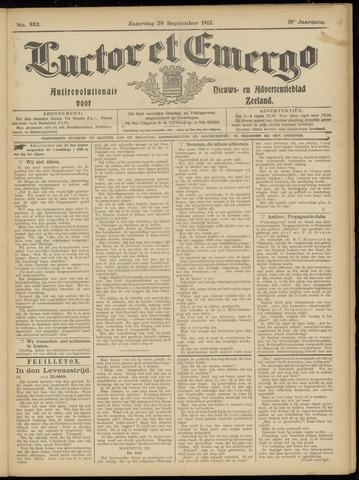 Luctor et Emergo. Antirevolutionair nieuws- en advertentieblad voor Zeeland / Zeeuwsch-Vlaanderen. Orgaan ter verspreiding van de christelijke beginselen in Zeeuwsch-Vlaanderen 1912-09-28