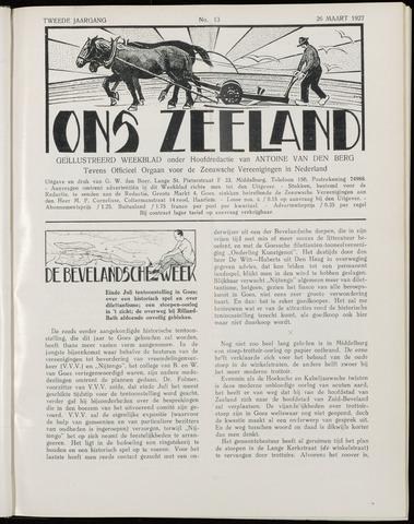 Ons Zeeland / Zeeuwsche editie 1927-03-26