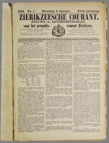 Zierikzeesche Courant 1884