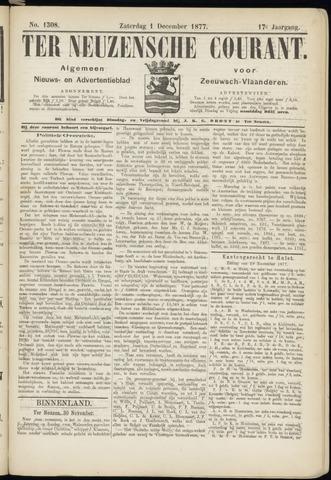 Ter Neuzensche Courant. Algemeen Nieuws- en Advertentieblad voor Zeeuwsch-Vlaanderen / Neuzensche Courant ... (idem) / (Algemeen) nieuws en advertentieblad voor Zeeuwsch-Vlaanderen 1877-12-01
