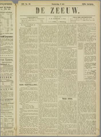 De Zeeuw. Christelijk-historisch nieuwsblad voor Zeeland 1891-07-09