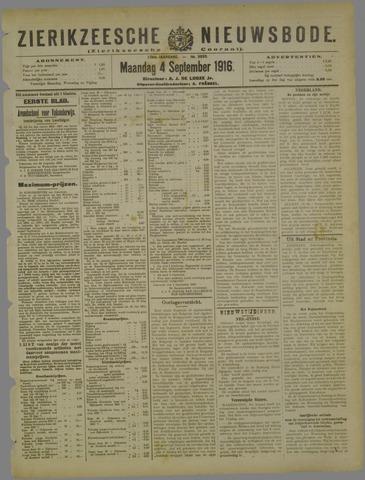 Zierikzeesche Nieuwsbode 1916-09-04