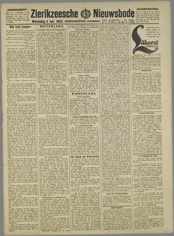 Zierikzeesche Nieuwsbode 1922-01-04