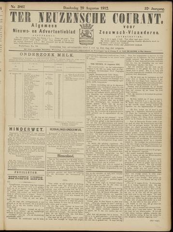 Ter Neuzensche Courant. Algemeen Nieuws- en Advertentieblad voor Zeeuwsch-Vlaanderen / Neuzensche Courant ... (idem) / (Algemeen) nieuws en advertentieblad voor Zeeuwsch-Vlaanderen 1912-08-29