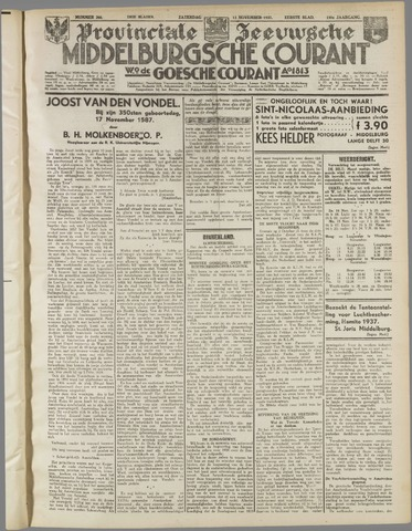 Middelburgsche Courant 1937-11-13
