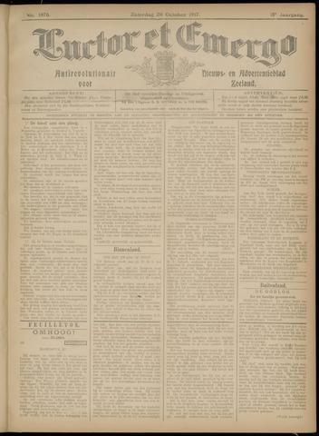 Luctor et Emergo. Antirevolutionair nieuws- en advertentieblad voor Zeeland / Zeeuwsch-Vlaanderen. Orgaan ter verspreiding van de christelijke beginselen in Zeeuwsch-Vlaanderen 1917-10-20