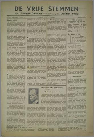 Vrije Stemmen van Schouwen-Duiveland, tevens mededeelingenblad Militair Gezag 1945-10-27