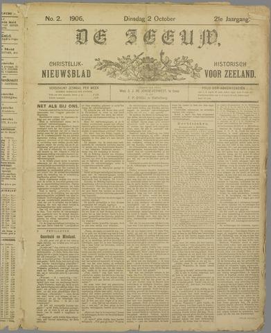 De Zeeuw. Christelijk-historisch nieuwsblad voor Zeeland 1906-10-02