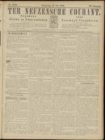 Ter Neuzensche Courant. Algemeen Nieuws- en Advertentieblad voor Zeeuwsch-Vlaanderen / Neuzensche Courant ... (idem) / (Algemeen) nieuws en advertentieblad voor Zeeuwsch-Vlaanderen 1912-07-18