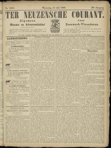 Ter Neuzensche Courant. Algemeen Nieuws- en Advertentieblad voor Zeeuwsch-Vlaanderen / Neuzensche Courant ... (idem) / (Algemeen) nieuws en advertentieblad voor Zeeuwsch-Vlaanderen 1888-07-11