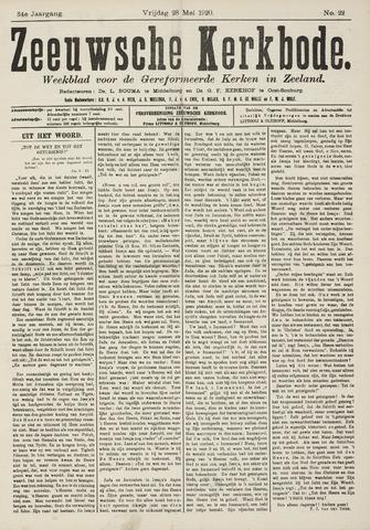 Zeeuwsche kerkbode, weekblad gewijd aan de belangen der gereformeerde kerken/ Zeeuwsch kerkblad 1920-05-28