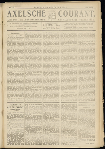 Axelsche Courant 1935-08-20
