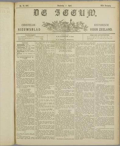 De Zeeuw. Christelijk-historisch nieuwsblad voor Zeeland 1897-04-01