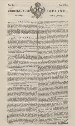 Middelburgsche Courant 1764-01-07