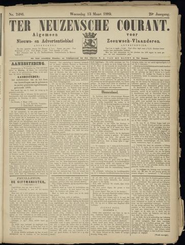 Ter Neuzensche Courant. Algemeen Nieuws- en Advertentieblad voor Zeeuwsch-Vlaanderen / Neuzensche Courant ... (idem) / (Algemeen) nieuws en advertentieblad voor Zeeuwsch-Vlaanderen 1889-03-13