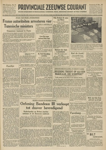 Provinciale Zeeuwse Courant 1952-03-27
