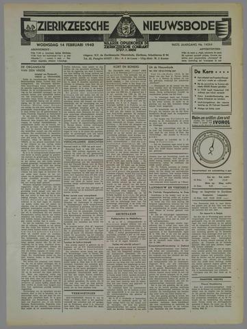 Zierikzeesche Nieuwsbode 1940-02-14