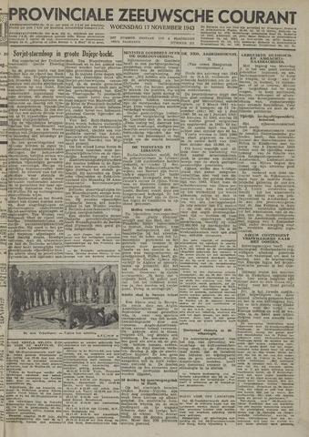Provinciale Zeeuwse Courant 1943-11-17