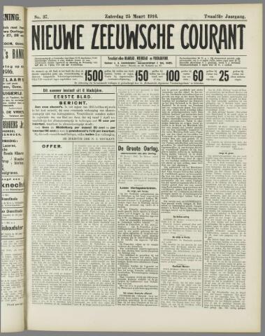 Nieuwe Zeeuwsche Courant 1916-03-25