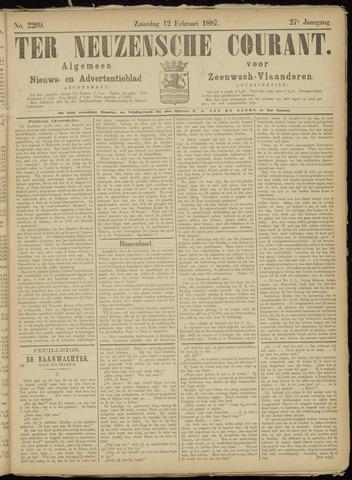 Ter Neuzensche Courant. Algemeen Nieuws- en Advertentieblad voor Zeeuwsch-Vlaanderen / Neuzensche Courant ... (idem) / (Algemeen) nieuws en advertentieblad voor Zeeuwsch-Vlaanderen 1887-02-12