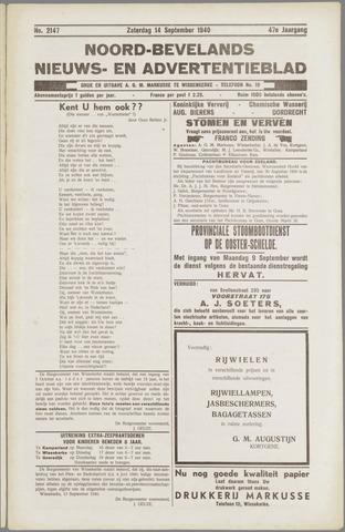 Noord-Bevelands Nieuws- en advertentieblad 1940-09-14