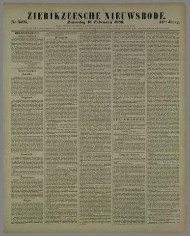 Zierikzeesche Nieuwsbode 1888-02-18